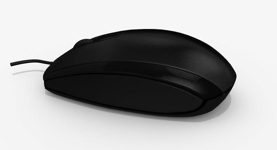 HP Mouse royalty-free 3d model - Preview no. 4
