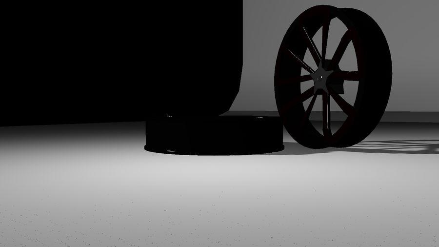 Jantes de voiture royalty-free 3d model - Preview no. 4