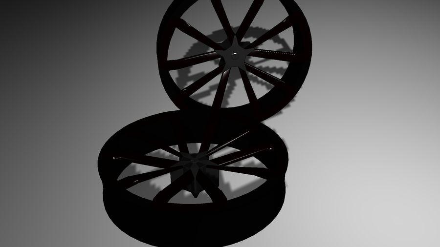 Jantes de voiture royalty-free 3d model - Preview no. 2