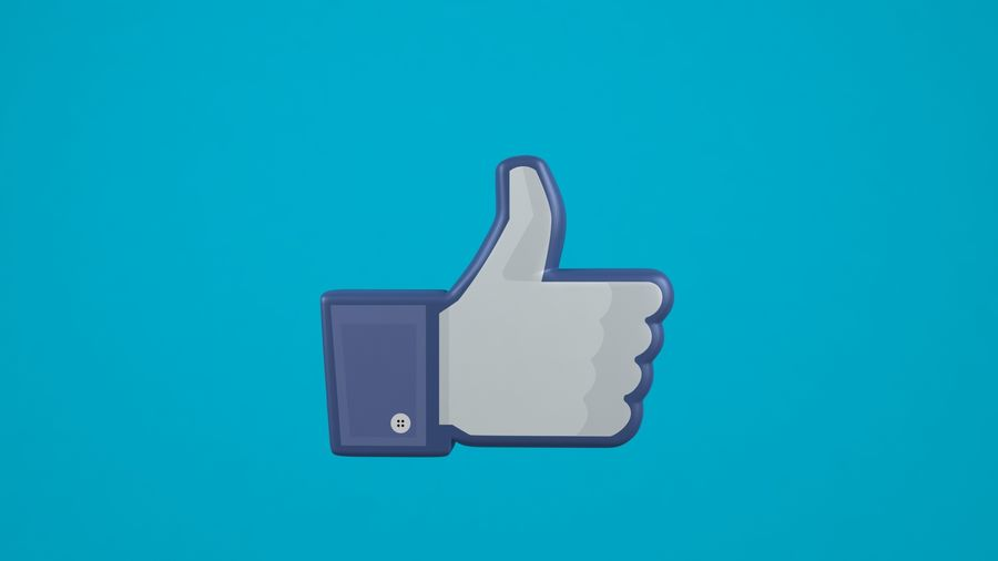 Facebook wie Symbol royalty-free 3d model - Preview no. 3