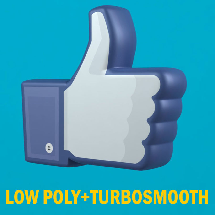 Facebook wie Symbol royalty-free 3d model - Preview no. 1