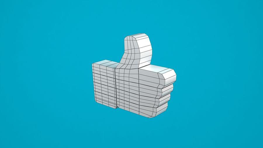 Facebook wie Symbol royalty-free 3d model - Preview no. 5