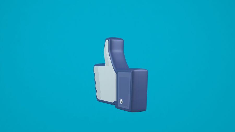 Facebook wie Symbol royalty-free 3d model - Preview no. 2