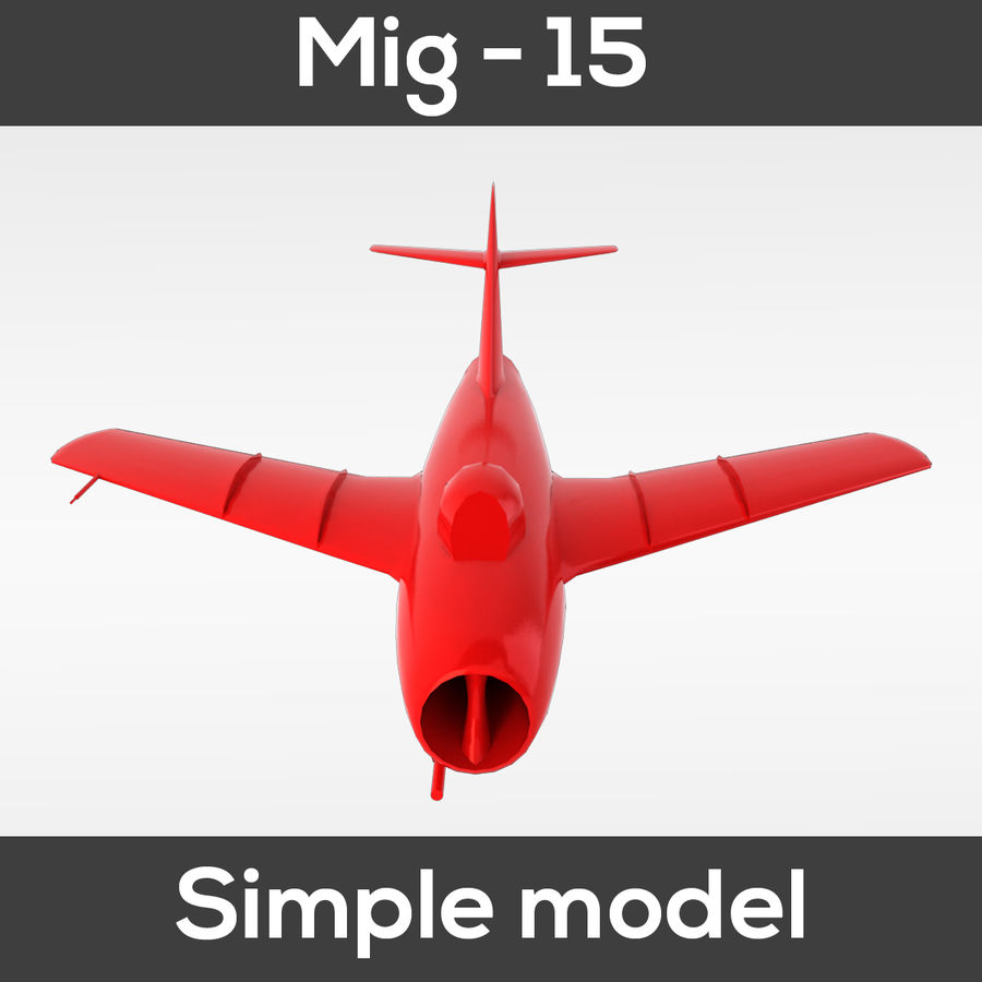 Mig - 15 modelo simples royalty-free 3d model - Preview no. 6