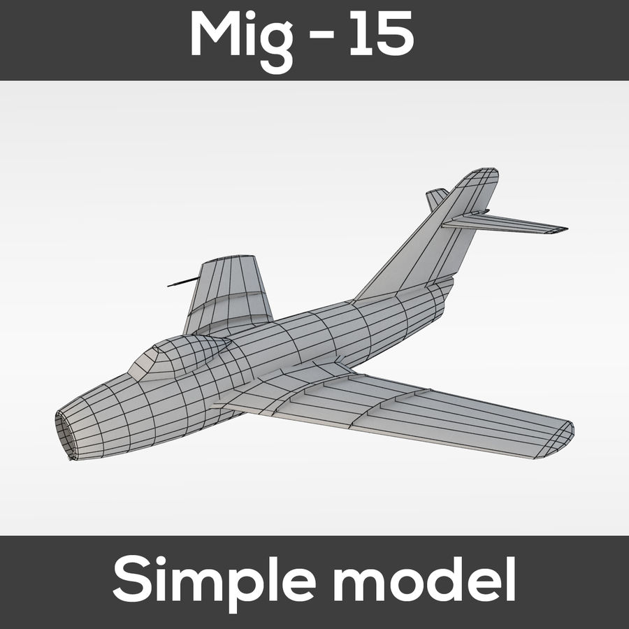 Mig - 15 modelo simples royalty-free 3d model - Preview no. 1