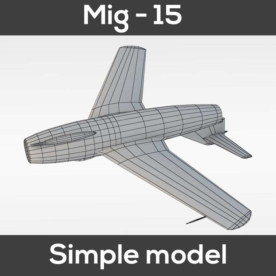Mig - 15 modelo simples royalty-free 3d model - Preview no. 3