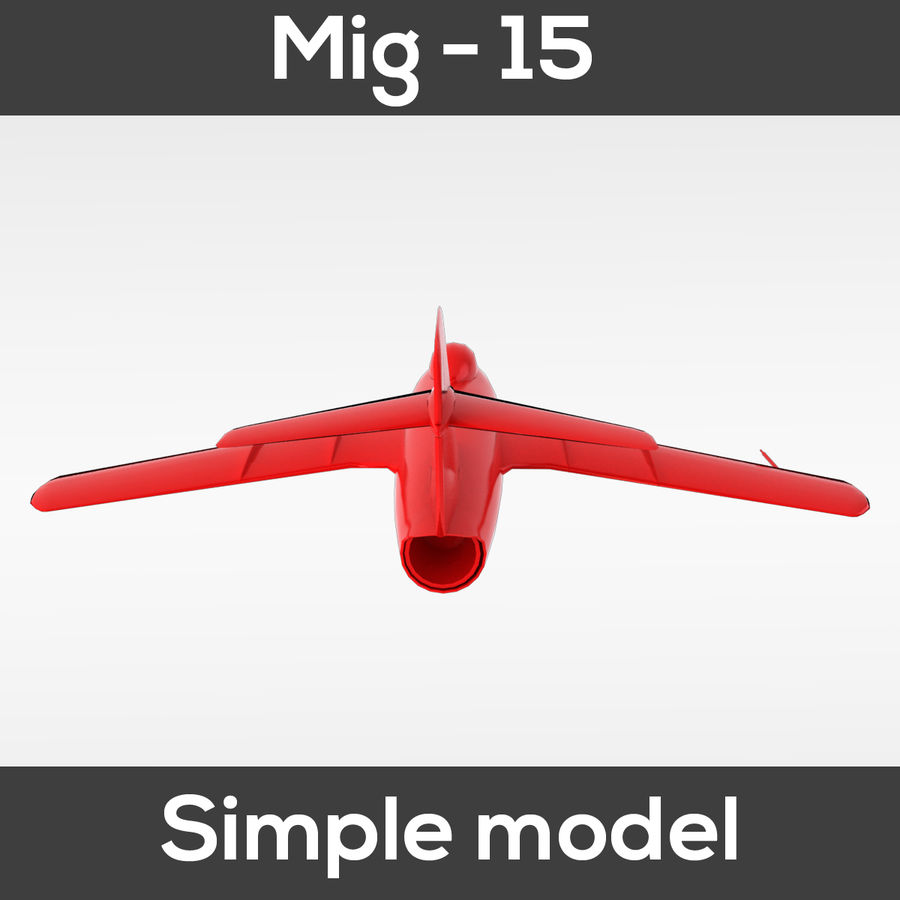 Mig - 15 modelo simples royalty-free 3d model - Preview no. 8