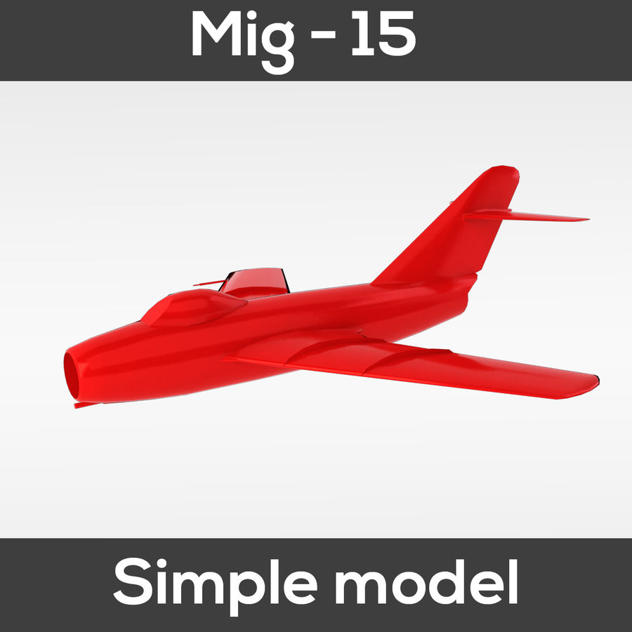 Mig - 15 modelo simples royalty-free 3d model - Preview no. 5