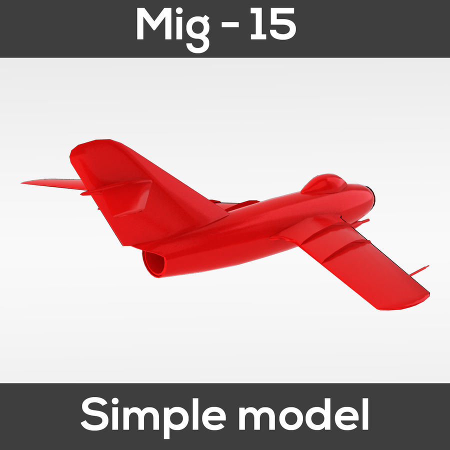 Mig - 15 modelo simples royalty-free 3d model - Preview no. 7