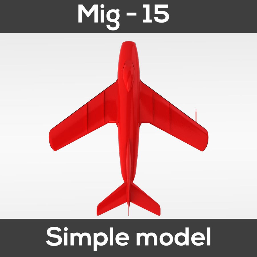 Mig - 15 modelo simples royalty-free 3d model - Preview no. 9