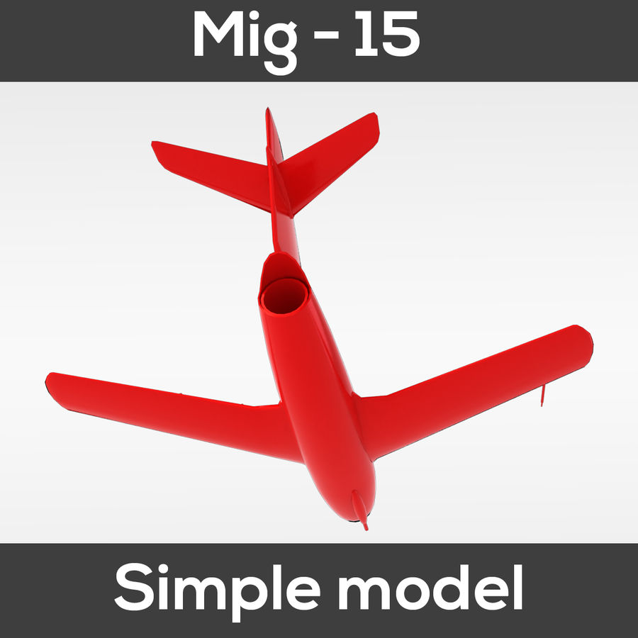 Mig - 15 modelo simples royalty-free 3d model - Preview no. 10