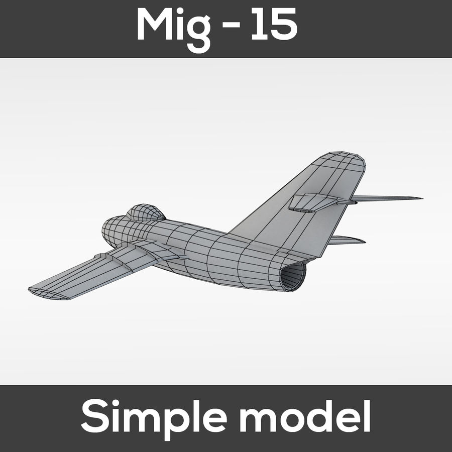 Mig - 15 modelo simples royalty-free 3d model - Preview no. 2