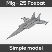 MiG-25 Foxbat (modelo simples) 3d model