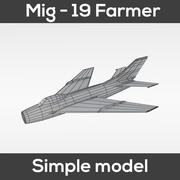 Mig-19 Farmer (Simple model) 3d model
