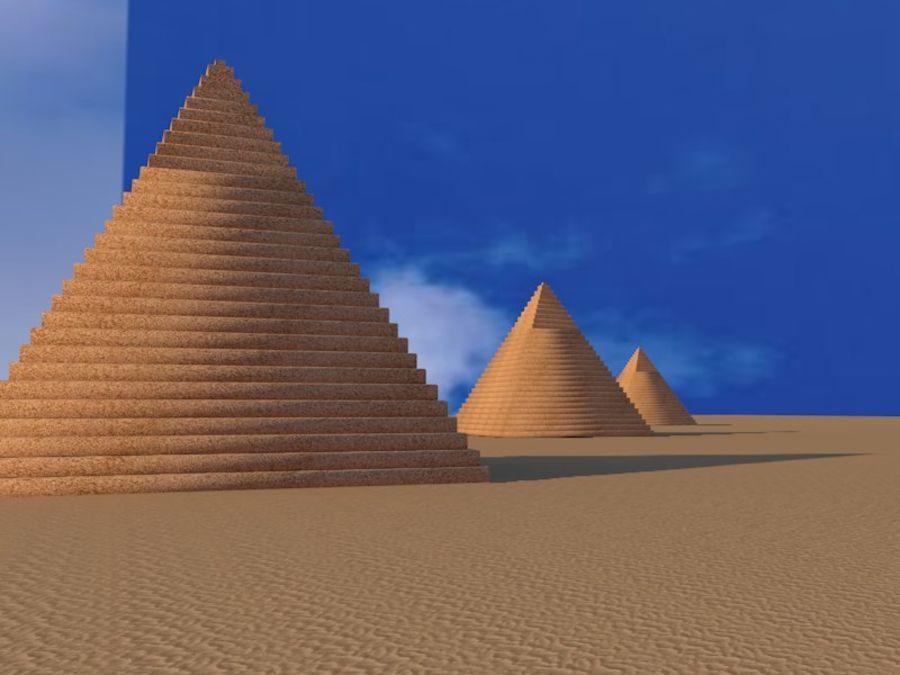 piramidi di giza royalty-free 3d model - Preview no. 7