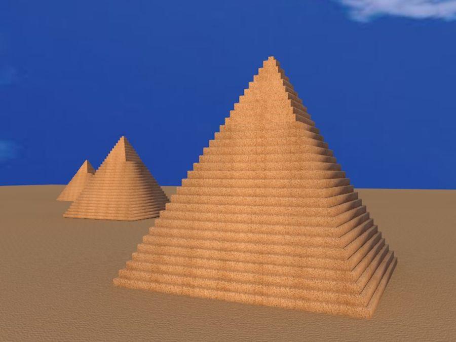 piramidi di giza royalty-free 3d model - Preview no. 5