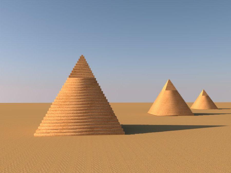 пирамиды Гизы royalty-free 3d model - Preview no. 8