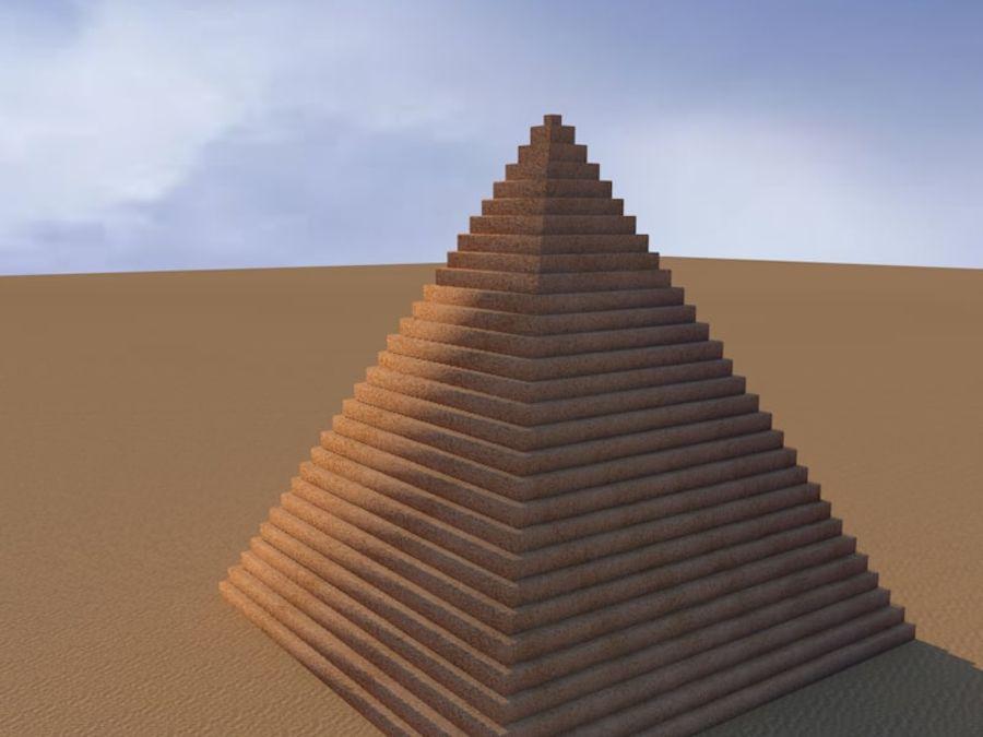 piramidi di giza royalty-free 3d model - Preview no. 2