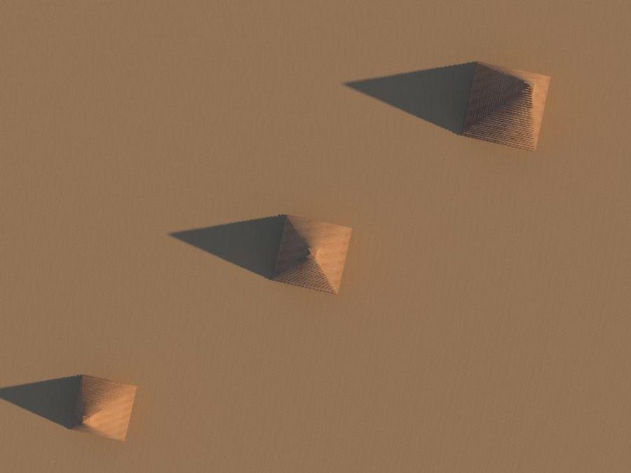 пирамиды Гизы royalty-free 3d model - Preview no. 4
