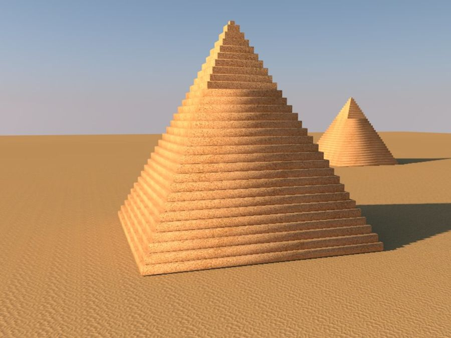 piramidi di giza royalty-free 3d model - Preview no. 6