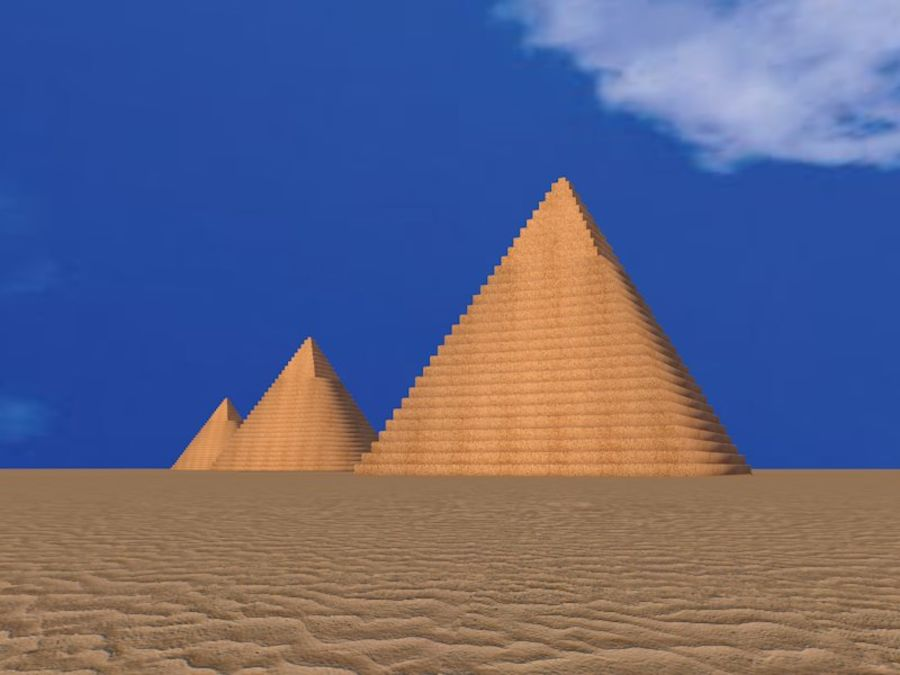 piramidi di giza royalty-free 3d model - Preview no. 3