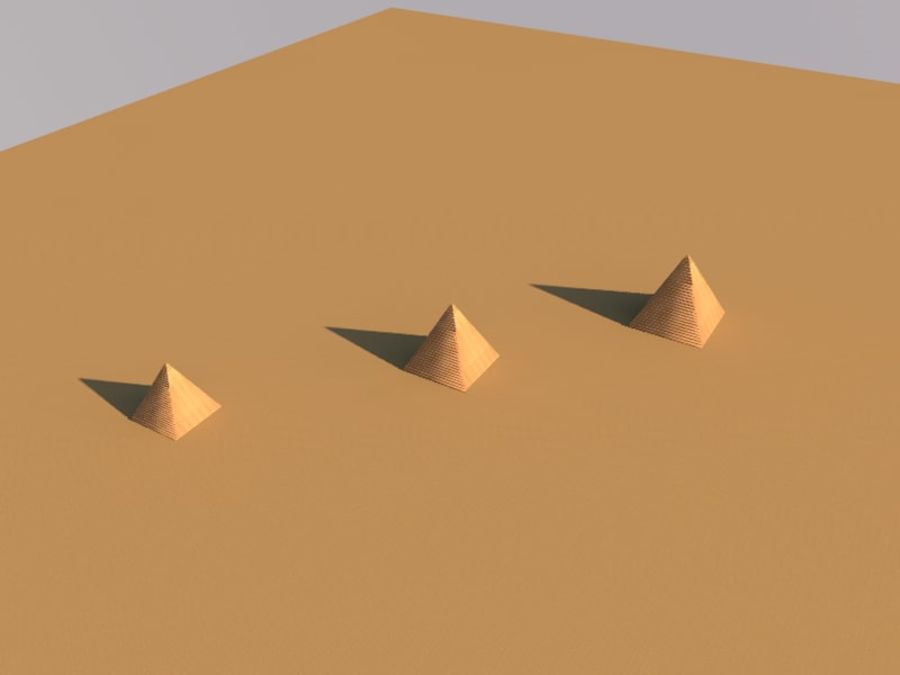 piramidi di giza royalty-free 3d model - Preview no. 9
