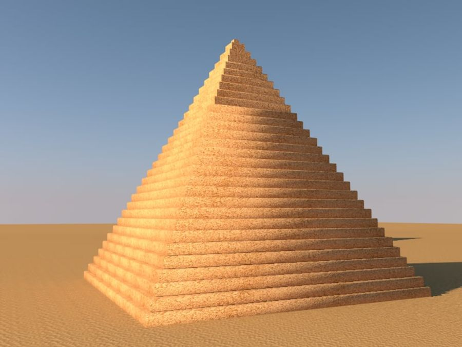 piramidi di giza royalty-free 3d model - Preview no. 1
