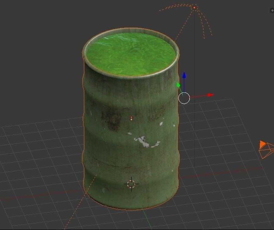 Barril tóxico bajo poli royalty-free modelo 3d - Preview no. 5