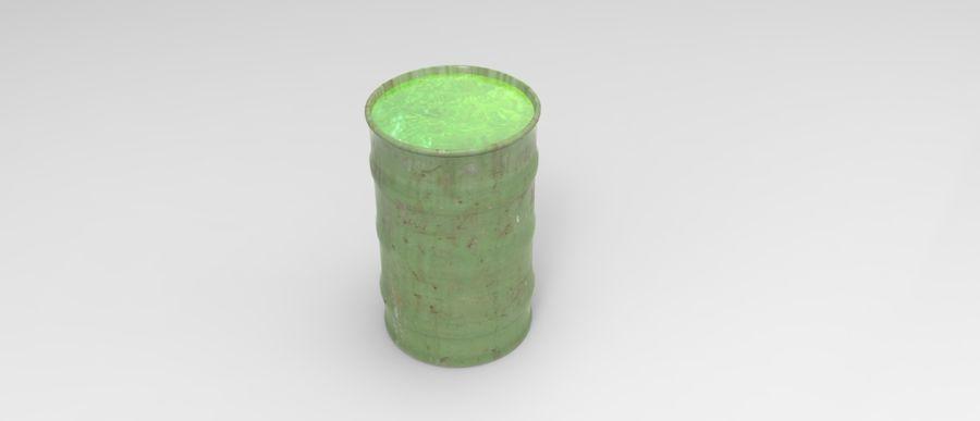 Barril tóxico bajo poli royalty-free modelo 3d - Preview no. 3