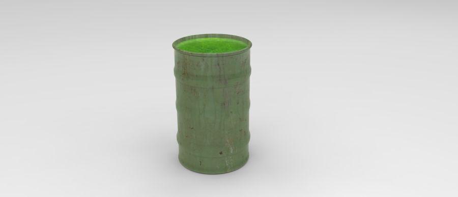 Barril tóxico bajo poli royalty-free modelo 3d - Preview no. 4