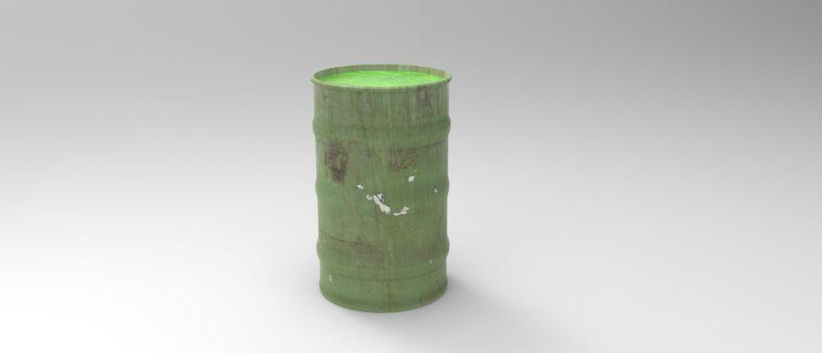 Barril tóxico bajo poli royalty-free modelo 3d - Preview no. 1