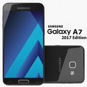 Samsung Galaxy A7 2017 Cielo negro modelo 3d
