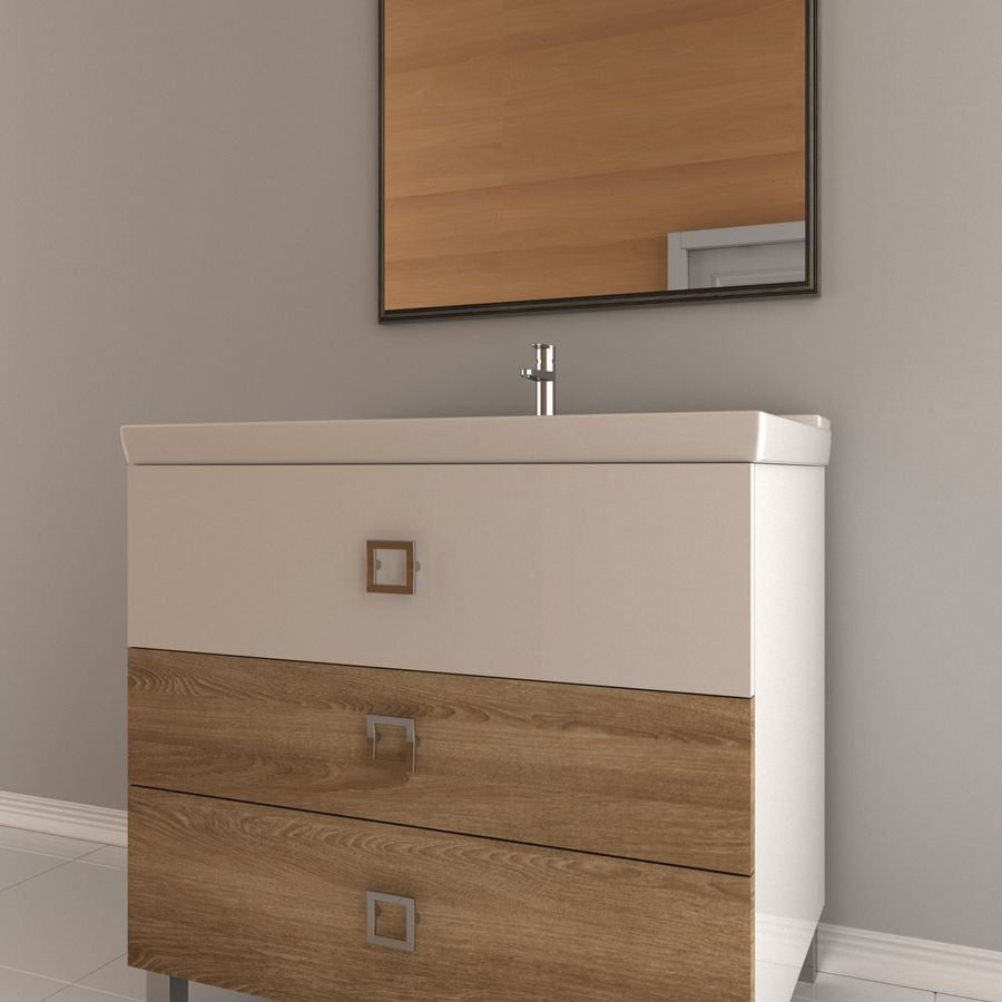 console table royalty-free 3d model - Preview no. 1