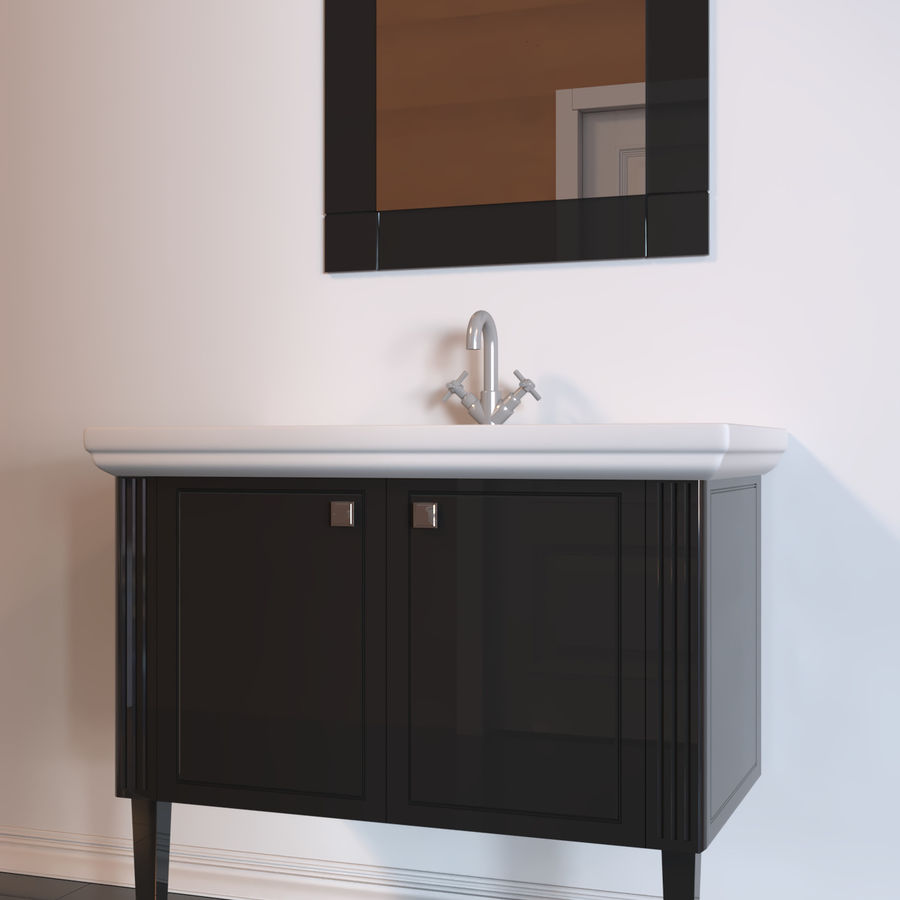 console table Berloni Bagno Venezia 90 VZ royalty-free 3d model - Preview no. 1