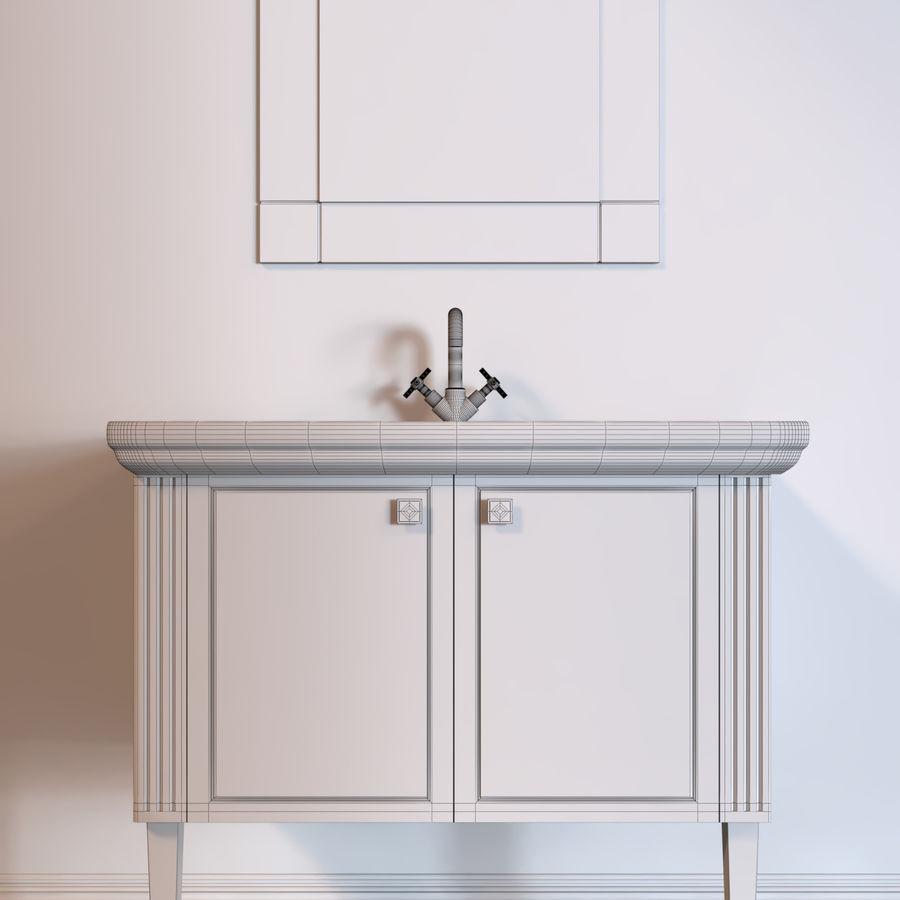 console table Berloni Bagno Venezia 90 VZ royalty-free 3d model - Preview no. 5