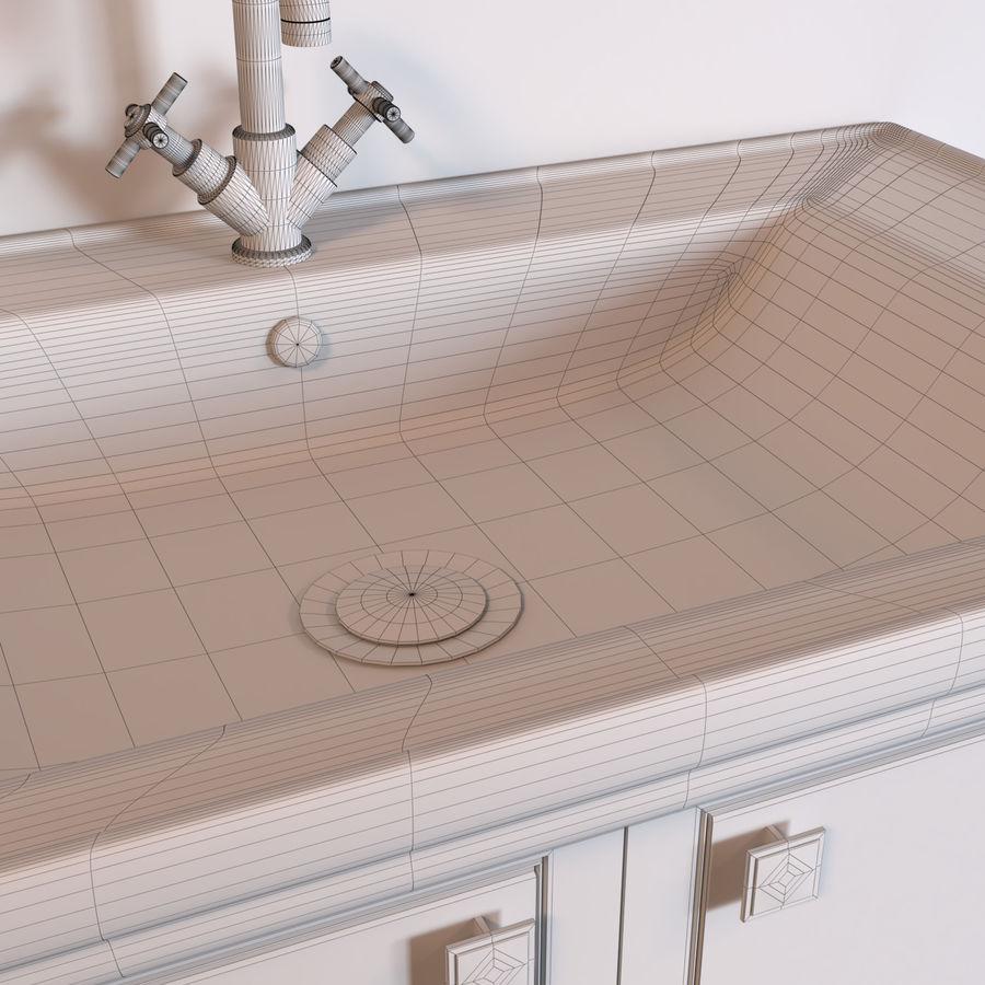 console table Berloni Bagno Venezia 90 VZ royalty-free 3d model - Preview no. 6