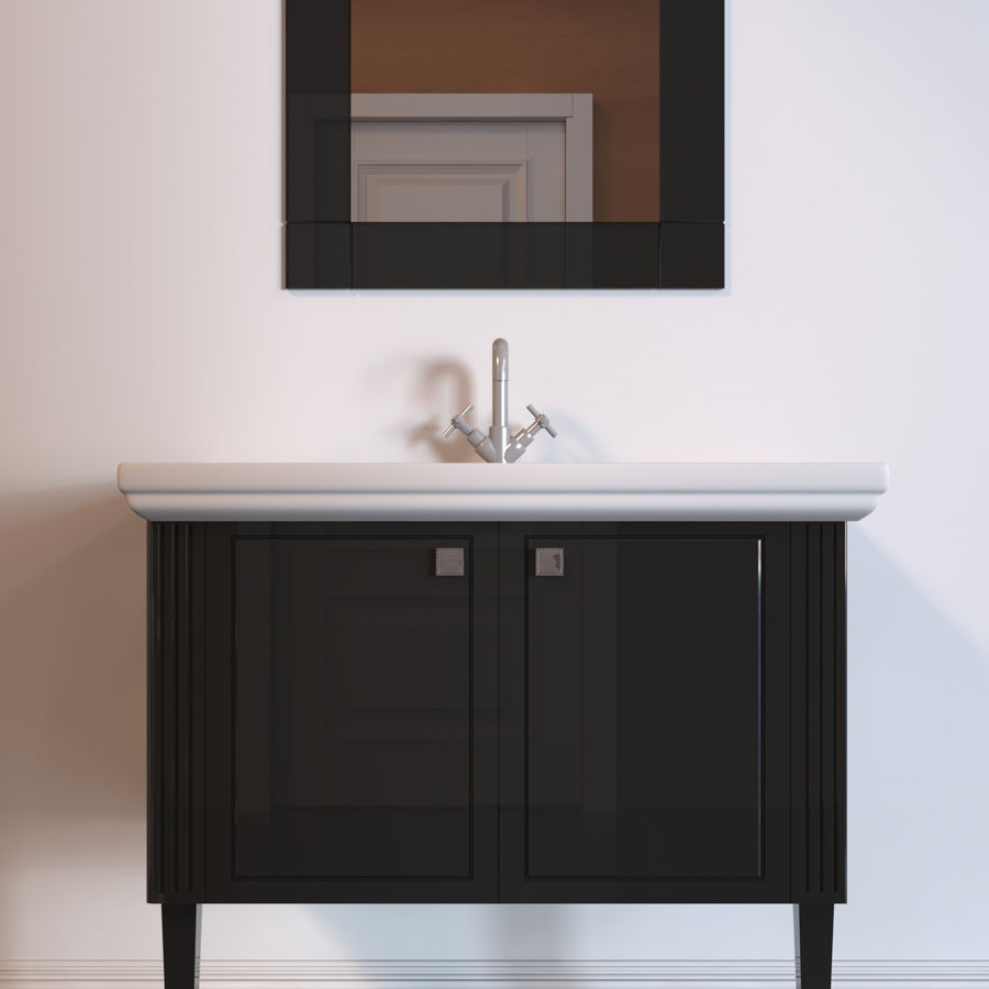 console table Berloni Bagno Venezia 90 VZ royalty-free 3d model - Preview no. 2