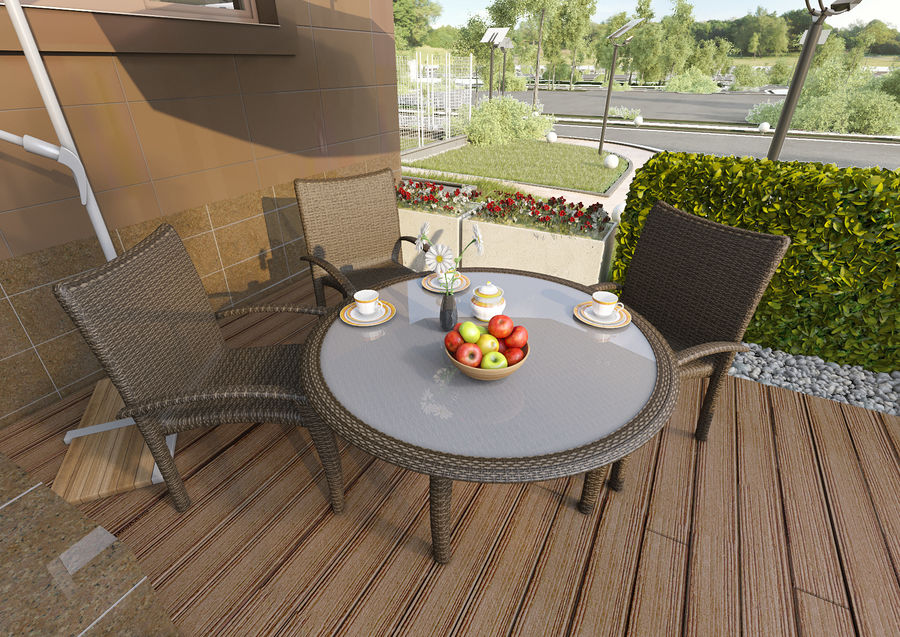 table Monaco royalty-free 3d model - Preview no. 4