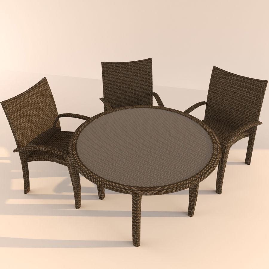 table Monaco royalty-free 3d model - Preview no. 2