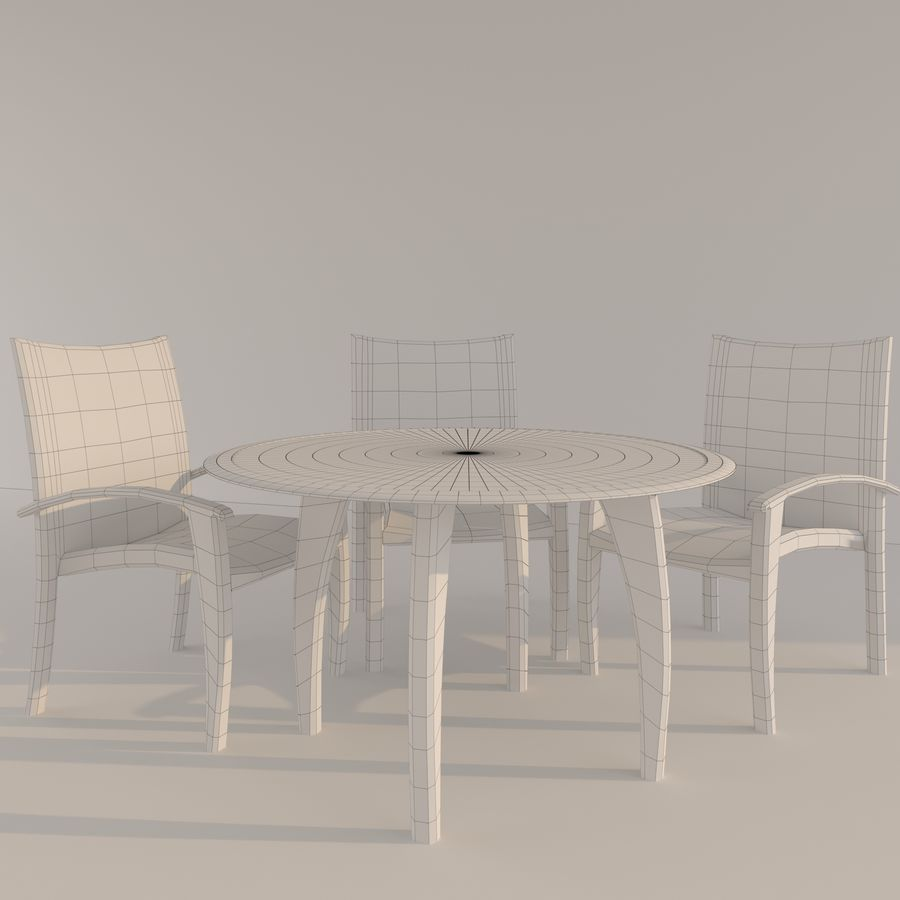 table Monaco royalty-free 3d model - Preview no. 3