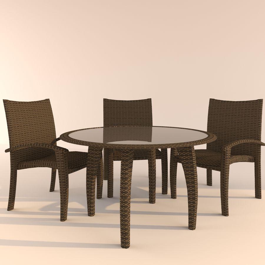 table Monaco royalty-free 3d model - Preview no. 1