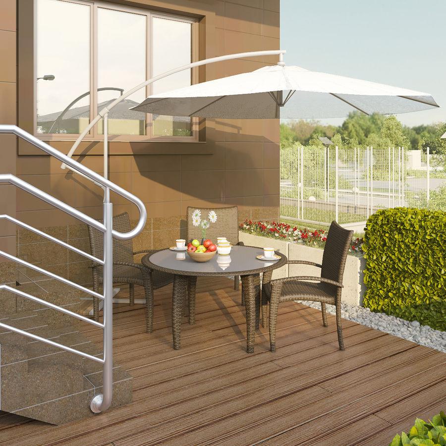 table Monaco royalty-free 3d model - Preview no. 5