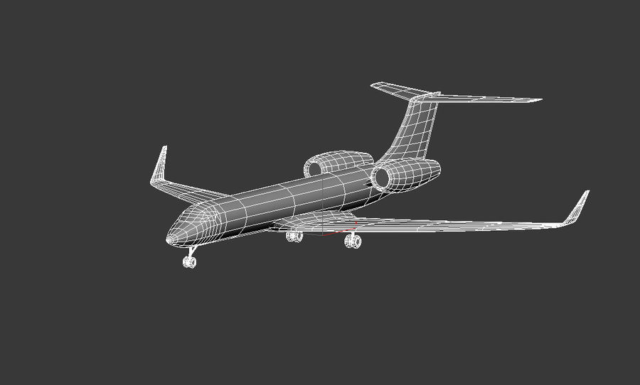 Gulfstream G550 skin 2 royalty-free 3d model - Preview no. 4