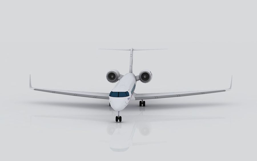 Gulfstream G550 skin 2 royalty-free 3d model - Preview no. 3