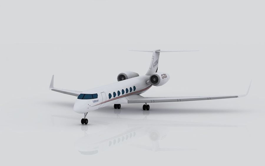 Gulfstream G550 skin 2 royalty-free 3d model - Preview no. 2