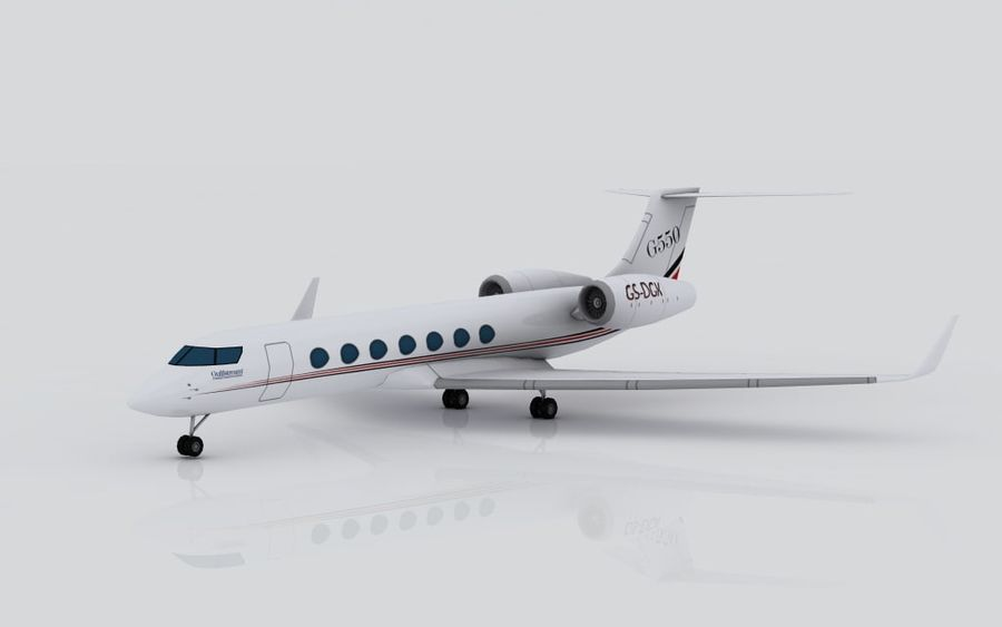 Gulfstream G550 skin 2 royalty-free 3d model - Preview no. 1