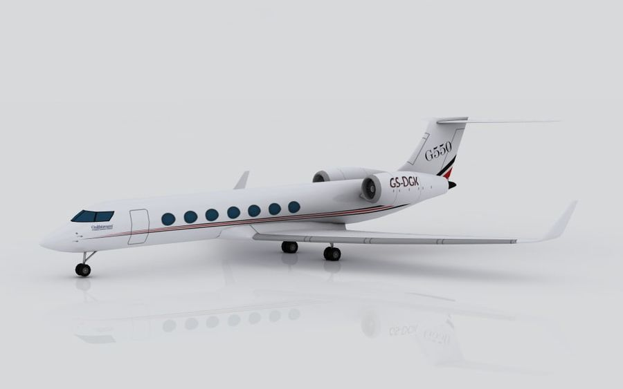 Gulfstream G550 skin 2 royalty-free 3d model - Preview no. 9