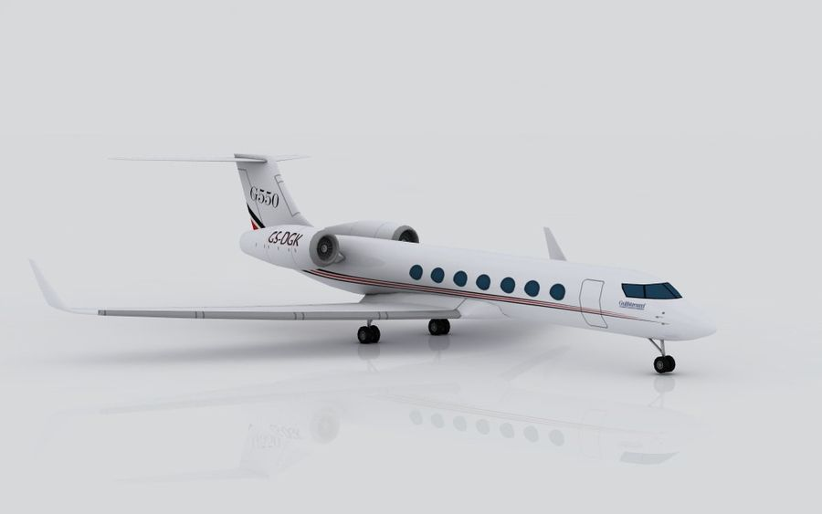 Gulfstream G550 skin 2 royalty-free 3d model - Preview no. 5