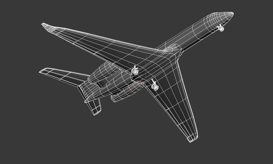 Gulfstream G550 skin 2 royalty-free 3d model - Preview no. 6
