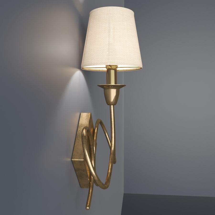 wall lighting royalty-free 3d model - Preview no. 4